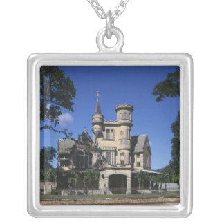 St James, Port of Spain, Trinidad, Caribbean Square Pendant Necklace