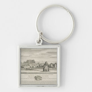 St. James's Palace and part of the City of Westmin Silver-Colored Square Keychain