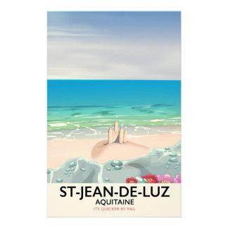 St-Jean-de-Luz, Aquitaine Travel poster Custom Stationery
