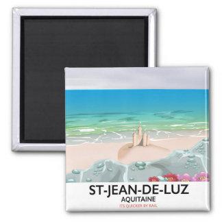 St-Jean-de-Luz, Aquitaine Travel poster Magnet