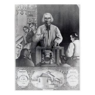 St. Jean-Marie Vianney  preaching, 19th century Postcard