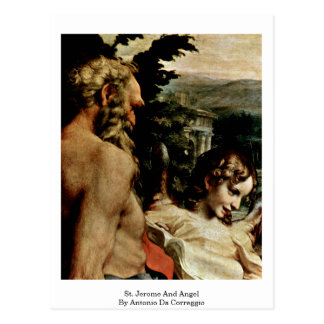 St. Jerome And Angel By Antonio Da Correggio Postcard