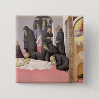 St. Jerome appearing to St. Cyril of Jerusalem, 14 2 Inch Square Button