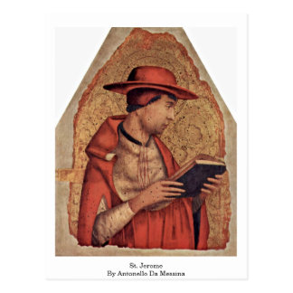 St. Jerome By Antonello Da Messina Postcard