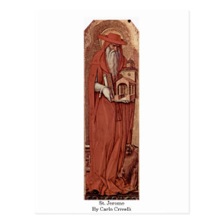St. Jerome By Carlo Crivelli Postcard