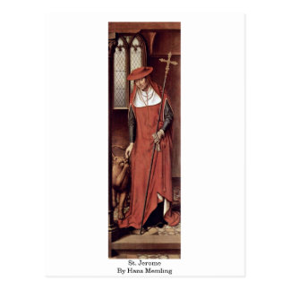 St. Jerome By Hans Memling Postcard