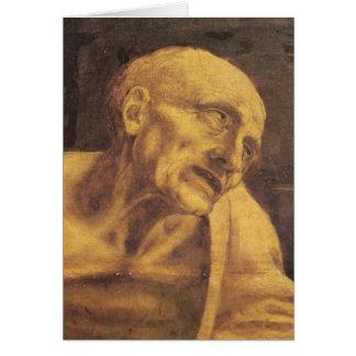 St. Jerome by Leonardo da Vinci circa 1481 Card