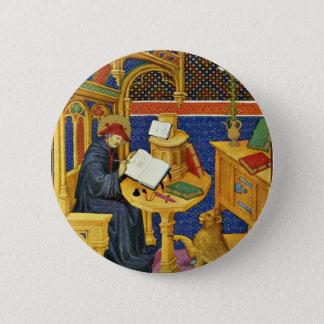 St. Jerome By Meister Des Maréchal De Boucicaut (B 2 Inch Round Button