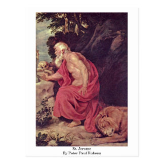 St. Jerome By Peter Paul Rubens Postcard