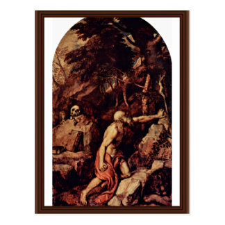 St. Jerome By Tizian (Best Quality) Postcard