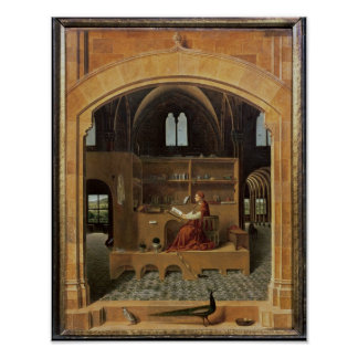 St. Jerome in his study, c.1475 Poster