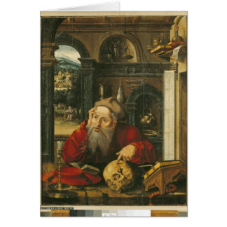 St. Jerome in his Study Card