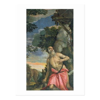 St. Jerome in Penitence (oil on canvas) Postcard