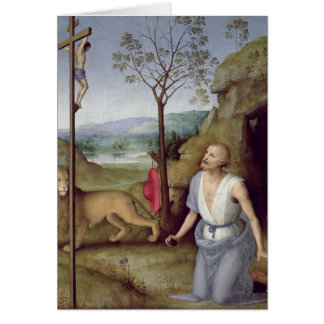 St. Jerome in the Desert, c.1499-1502 Card