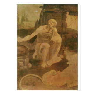 St. Jerome in the Wilderness by Leonardo Da Vinci Postcard