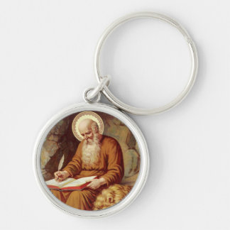 St. Jerome Monk Bible Keychain