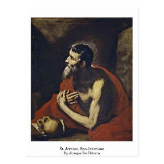 St. Jerome, San Jeronimo By Jusepe De Ribera Postcard