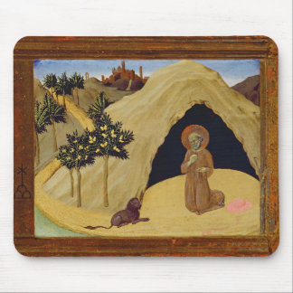 St. Jerome with the lion, 1436 (tempera on panel) Mouse Pad