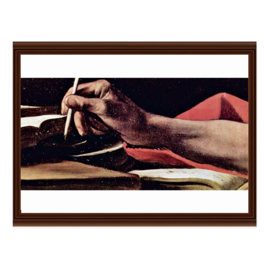 St. Jerome, Writing Detailed By Michelangelo Meris Postcard