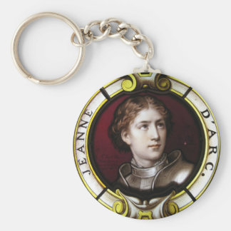 St. Joan of Arc Basic Round Button Keychain