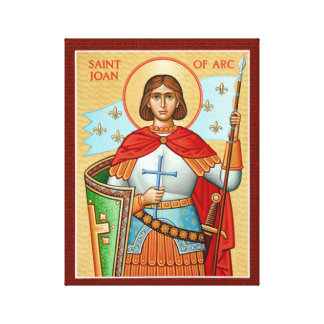 St Joan of Arc Icon Canvas Print