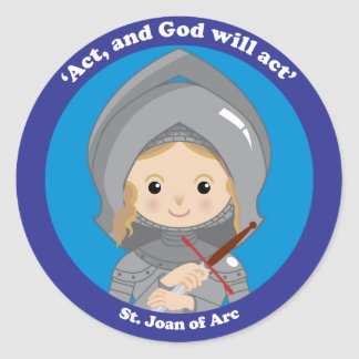 St. Joan of Arc Round Sticker