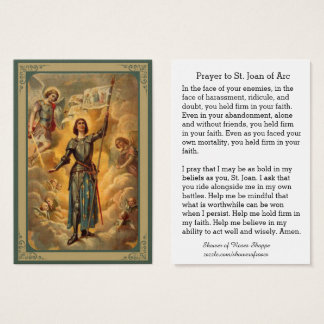St. Joan of Arc St. Michael Angels Soldier Business Card