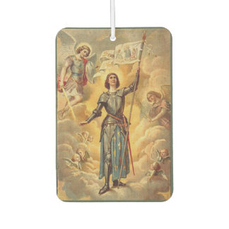 St. Joan of Arc St. Michael Angels Soldier Car Air Freshener