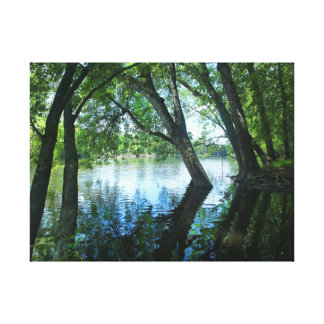 St Joe Riverbank, Indiana Canvas Print