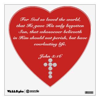St. John 3:16 Wall Decal