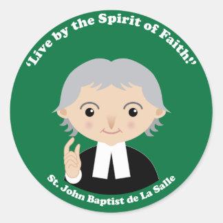 St. John Baptist de La Salle Classic Round Sticker