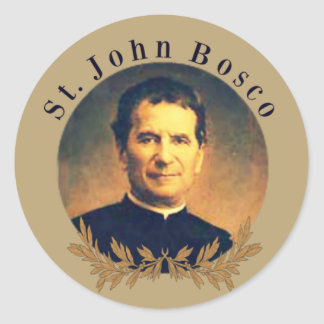 St. John Bosco Priest Classic Round Sticker