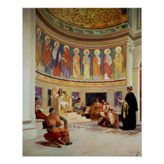 St John Chrysostom  exiled by Empress Eudoxia Poster