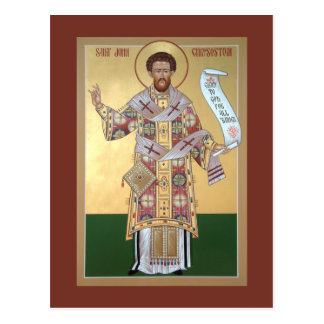 St. John Chrysostom Prayer Card Postcard