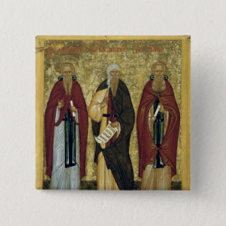 St. John Climacus  St. John of Damascus 2 Inch Square Button