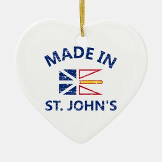 St. John Coat of arms Ceramic Ornament