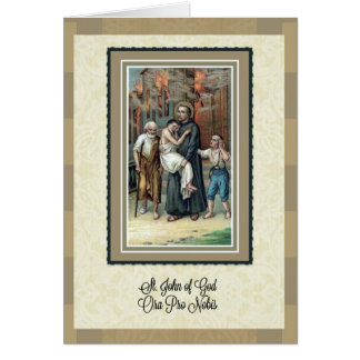 St. John of God Anniversary of Priesthood Card