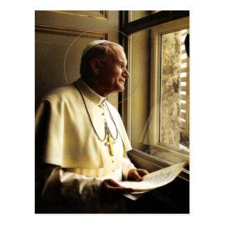 ST JOHN PAUL II DEEP IN THOUGHT. POSTCARD