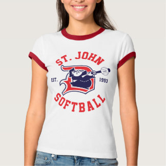 St. John Red Ringer - Women's T-Shirt