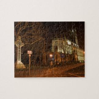 St. John's Episcopal Church at night – Edinburgh, Jigsaw Puzzle