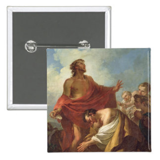 St. John the Baptist 2 Inch Square Button