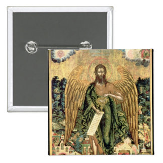 St. John the Baptist, Angel of the Wilderness 2 Inch Square Button