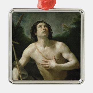 St. John the Baptist, c.1635-40 Silver-Colored Square Ornament