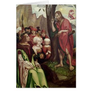 St. John the Baptist Preaching Before Herod Card