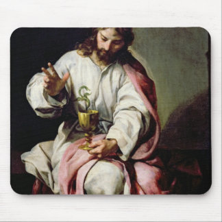 St. John the Evangelist and the Poisoned Cup Mouse Pad