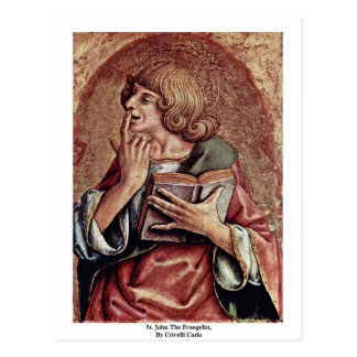 St. John The Evangelist, By Crivelli Carlo Postcard