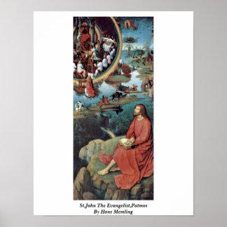 St.John The Evangelist,Patmos By Hans Memling Poster