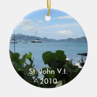 St. John V.I., 2010 Ceramic Ornament