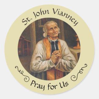 St. John Vianney Feast Aug 4 Classic Round Sticker