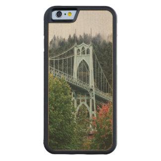 St. John's Bridge Carved Maple iPhone 6 Bumper Case